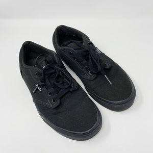 Vans All Black Canvas Low Top Sneakers